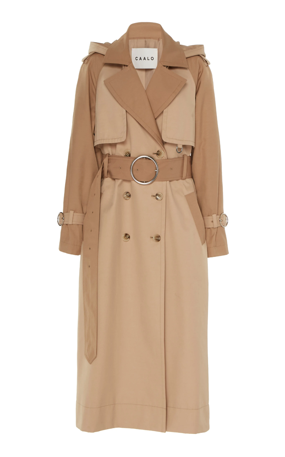 Contrast Stitch Hooded Trench Coat by CAALO _ Moda Operandi