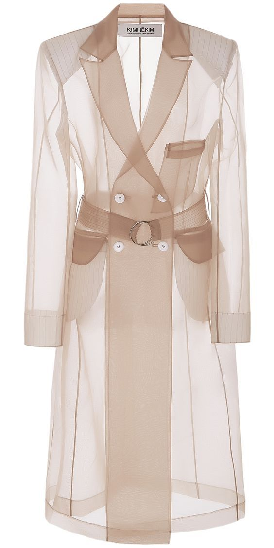 Designer Organza Trench Coat _ Clothia